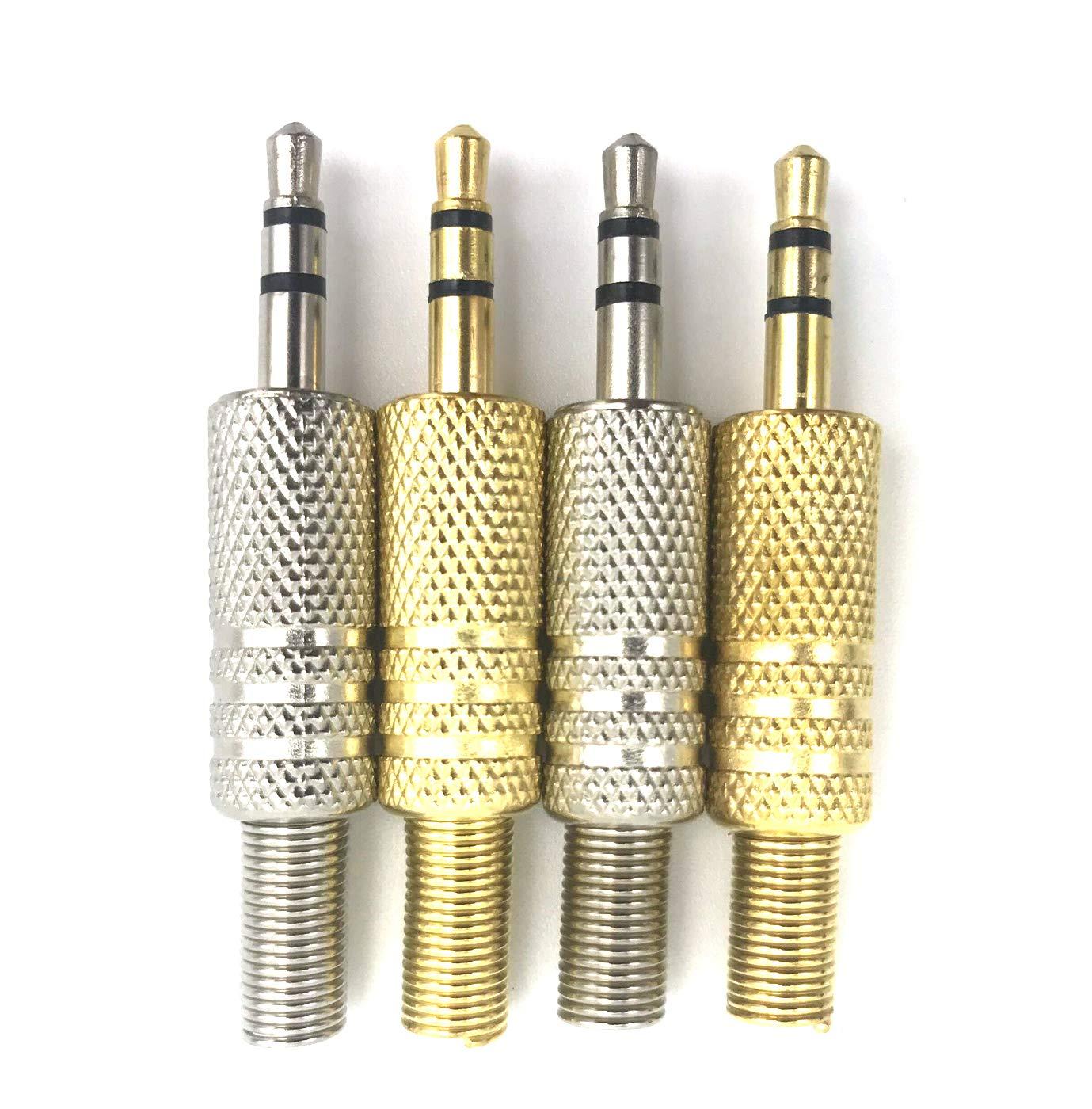 Vimmor 4/pezzi 3/palo di ricambio per cuffie audio jack maschio spina saldatura connettore per audio e video saldatura fine