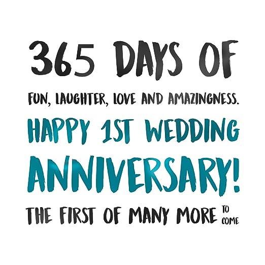 Happy 1st Wedding Anniversary Card - First, Congratulations, 365 ...