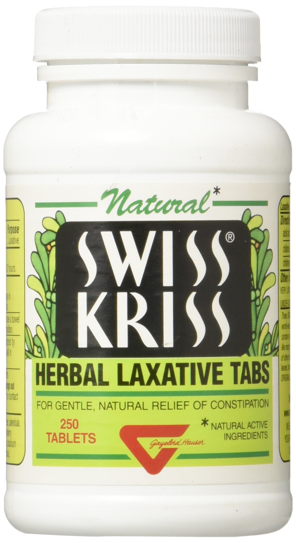 Swiss Kriss Herbal Laxative 250 Tablets 4-Pack