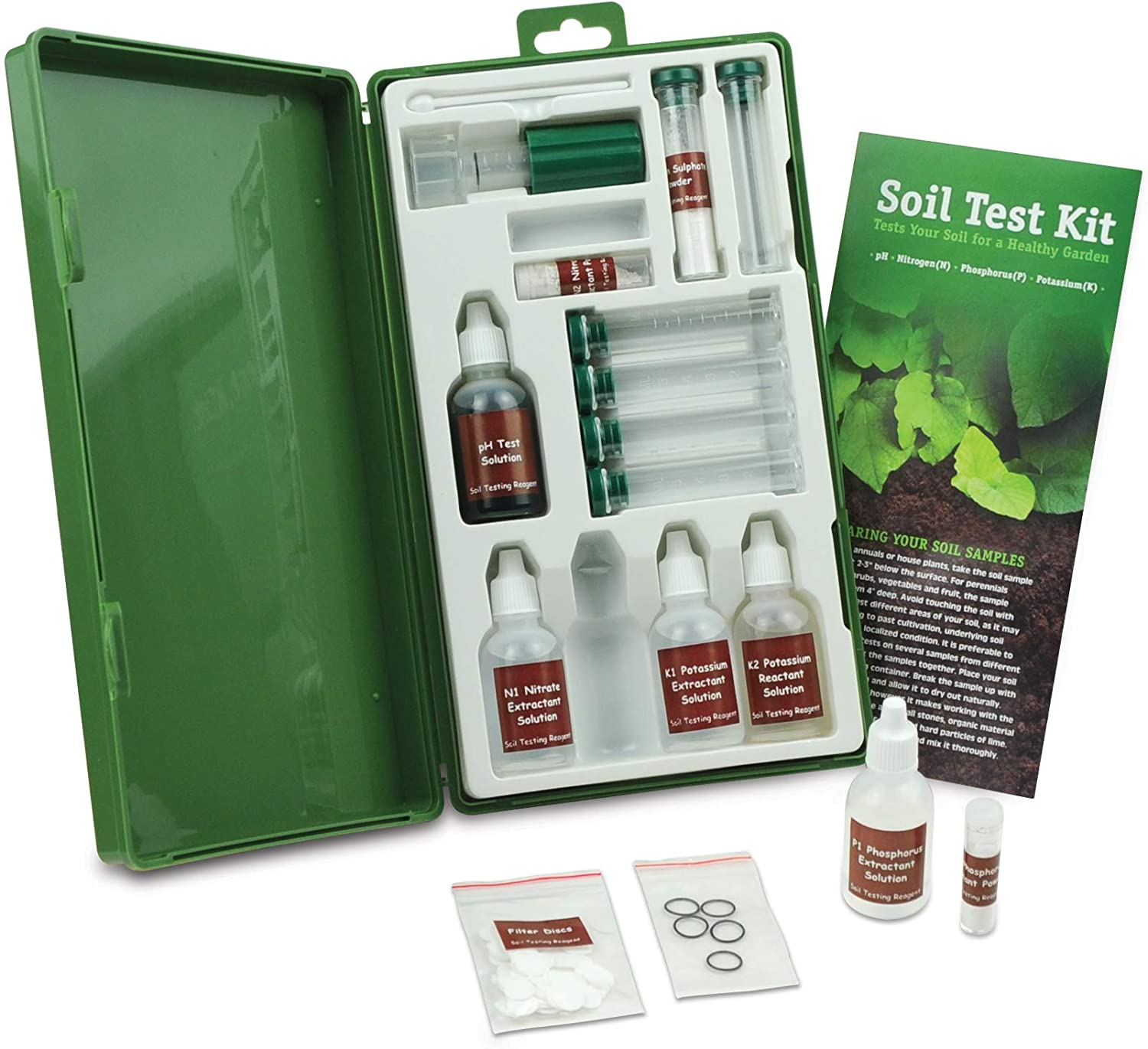 Environmental Concepts 1662 Professional Soil Test Kit with 40 Tests