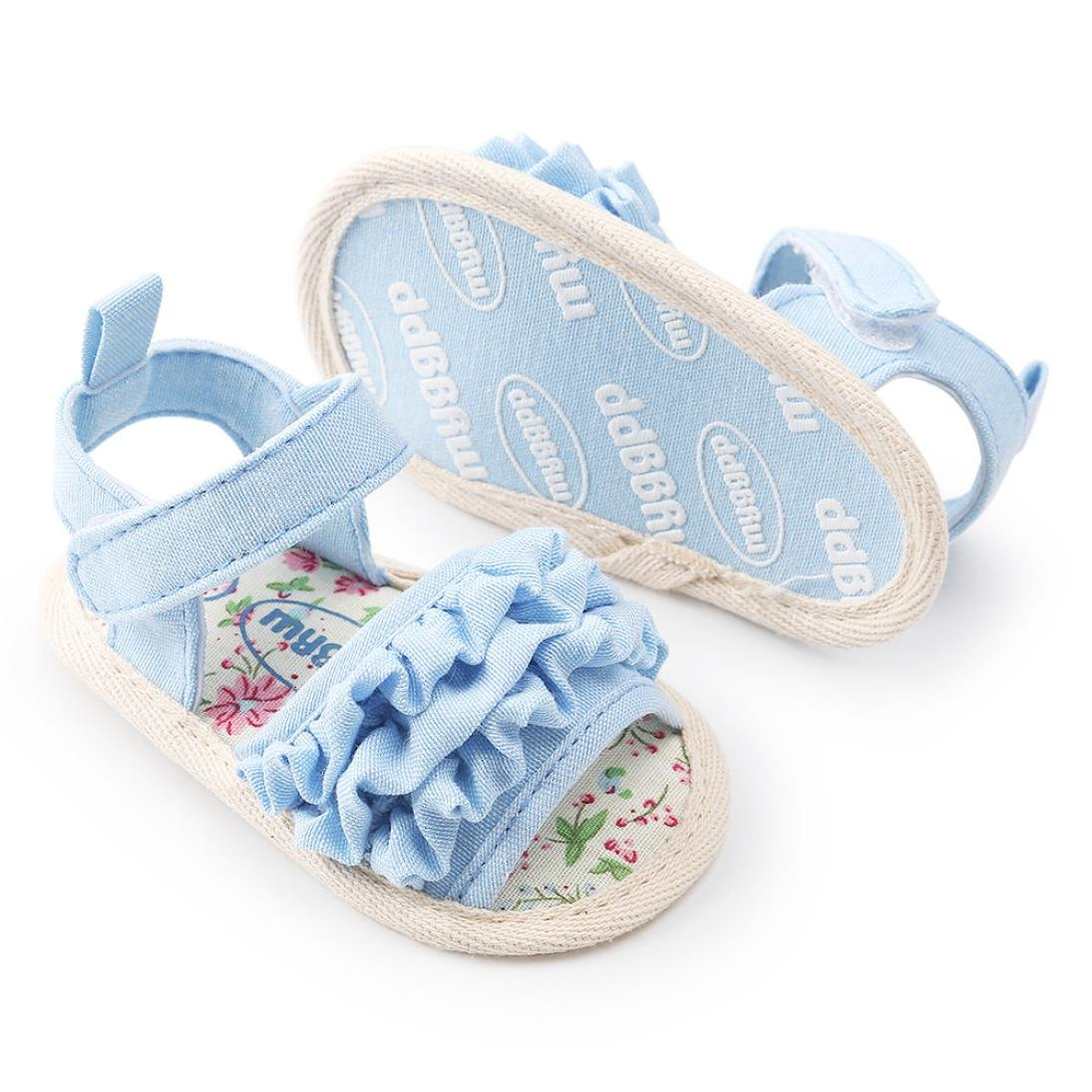 Witspace Baby Girls Flower Sandals Toddler Kids Anti-slip Sneaker Soft Sole Summer Shoes