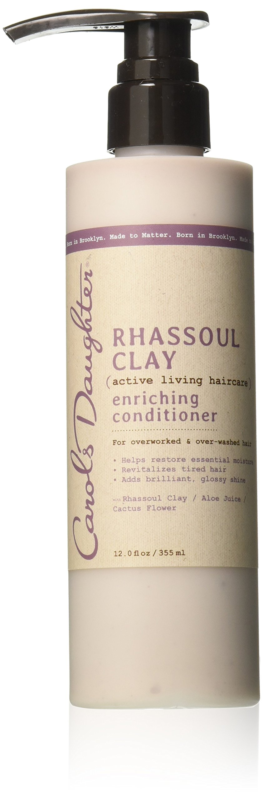 Carol's Daughter Rhassoul Clay Enriching Conditioner, For Overworked & Over-Washed Hair, 12 fl oz (Packaging May Vary)