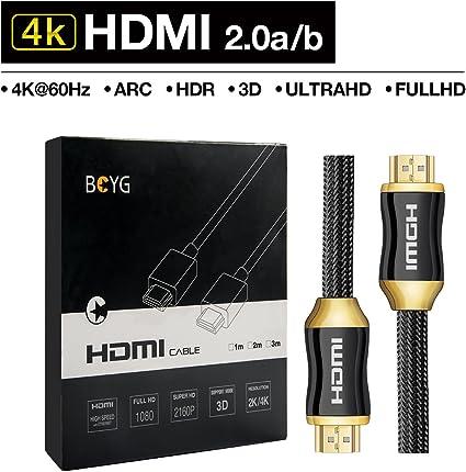 Premium 4k Hdmi Kabel 3m Highspeed Hdmi 2 0a B Kabel Kompatibel Mit 4k Ultra Hdtv Full Hd Hdr 3d Arc Cec Elektronik