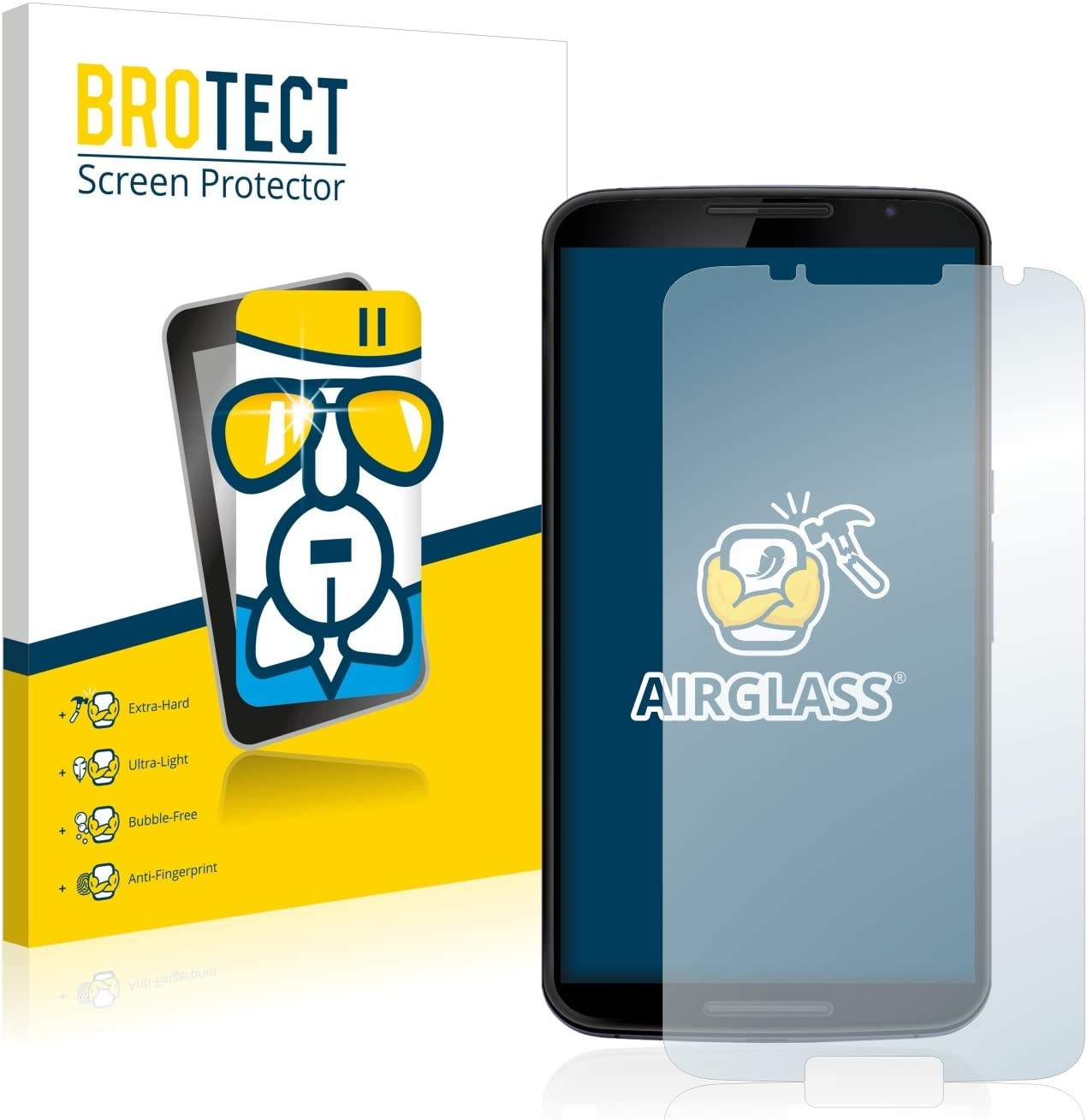 Screen Guard Extra-Hard BROTECT AirGlass Glass Screen Protector for Symbol MC75 3G Ultra-Light