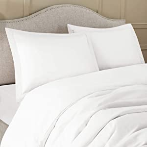 Nestl Bedding Soft Pillow Shams Set of 2 - Double Brushed Microfiber Hypoallergenic Pillow Covers - Hotel Collection Premium Bed Pillow Cases, King - White