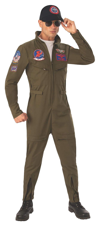 Top Gun Men's Jumpsuit Fancy Dress Costume Large