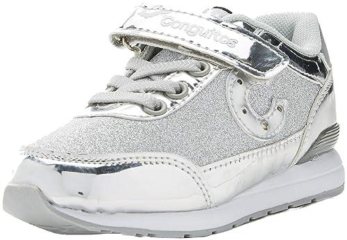 Conguitos Deportivo Glitter con Luz, Zapatos de Cordones Derby para Niñas: Amazon.es: Zapatos y complementos
