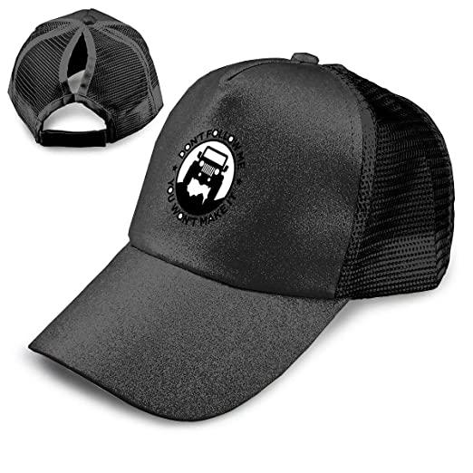 a5505598 Image Unavailable. Image not available for. Color: Jeep Wrangler Car  Sequined Ponytail Baseball Cap High Bun Glitter ...