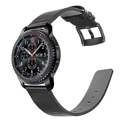 Para Samsung Gear S3 Classic / Frontier Watchband, TRUMiRR 22mm Oily Leather Smart Watch Band Correa para la muñeca de lanzamiento rápido para Gear 2 ...