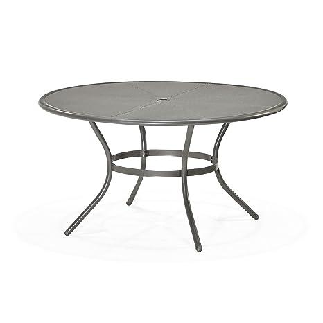 Mercury Table ronde de jardin en acier D 140cm Gris - Alinea ...