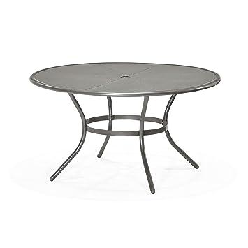 Mercury Table ronde de jardin en acier D 140cm Gris - Alinea 140.0 ...