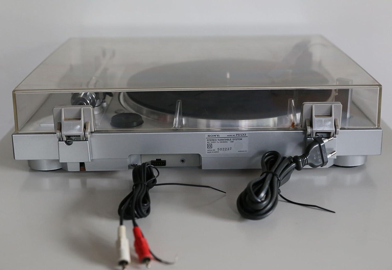 Tocadiscos automático Sony PS-LX 3 en plata: Amazon.es: Electrónica