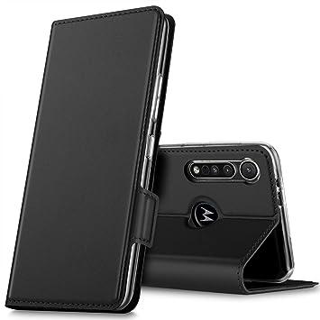 GEEMAI Diseño para Motorola One Macro/Moto G8 Play Protectora Funda,con Soporte Plegable Apto para Motorola One Macro/Moto G8 Play Smartphone. (Negro)
