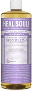 product image for Dr. Bronner's - Pure-Castile Liquid Soap (Lavender, 32 ounce) - Made with Organic Oils, 18-in-1 Uses: Face, Body, Hair, Laundry, Pets and Dishes, Concentrated, Vegan, Non-GMO