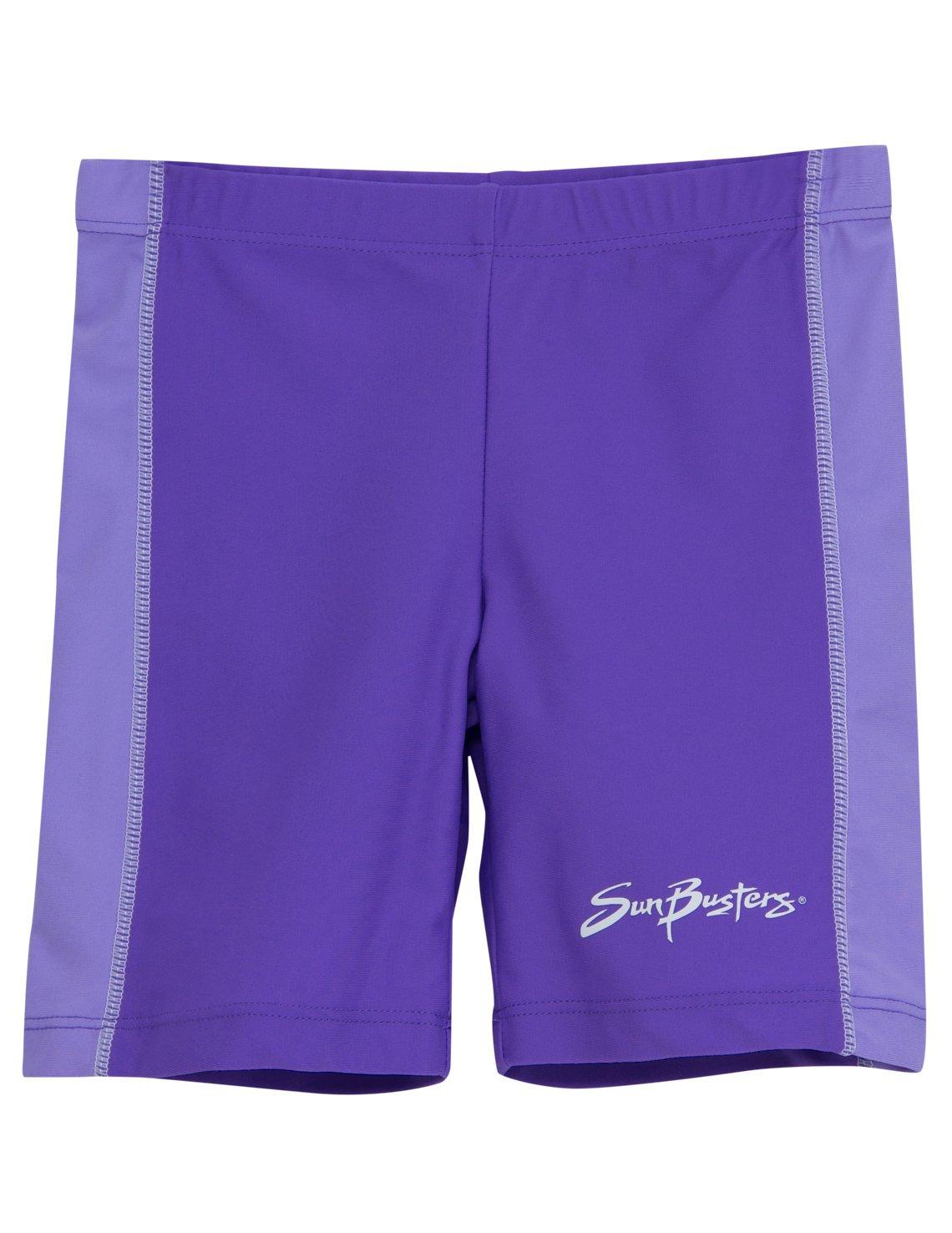 Girls Sun Busters UV Rash Swim Shorts -- High UV Protection UPF50+ swimwear (Grape/Plum, Grape/Blackberry, Peach/Nectarine & Raspberry/Cranberry)