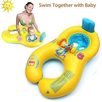 Anillo de la nadada del bebé, Piscina inflable Anillo flotante asiento para niños asiento de