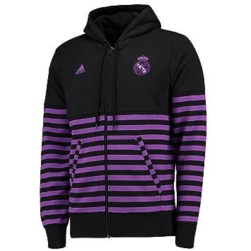 adidas SSP FZ HD Sudadera Línea Real Madrid CF, Hombre, (Negro/Vioray), 2XL: Amazon.es: Deportes y aire libre