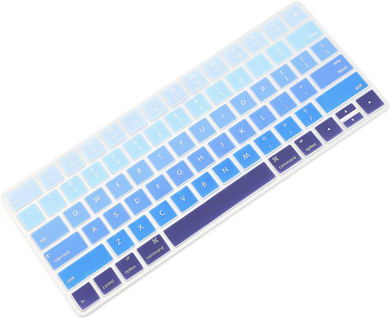 Allinside Ombre Blue Cover for Apple Magic Keyboard (MLA22LL/A) with US Layout