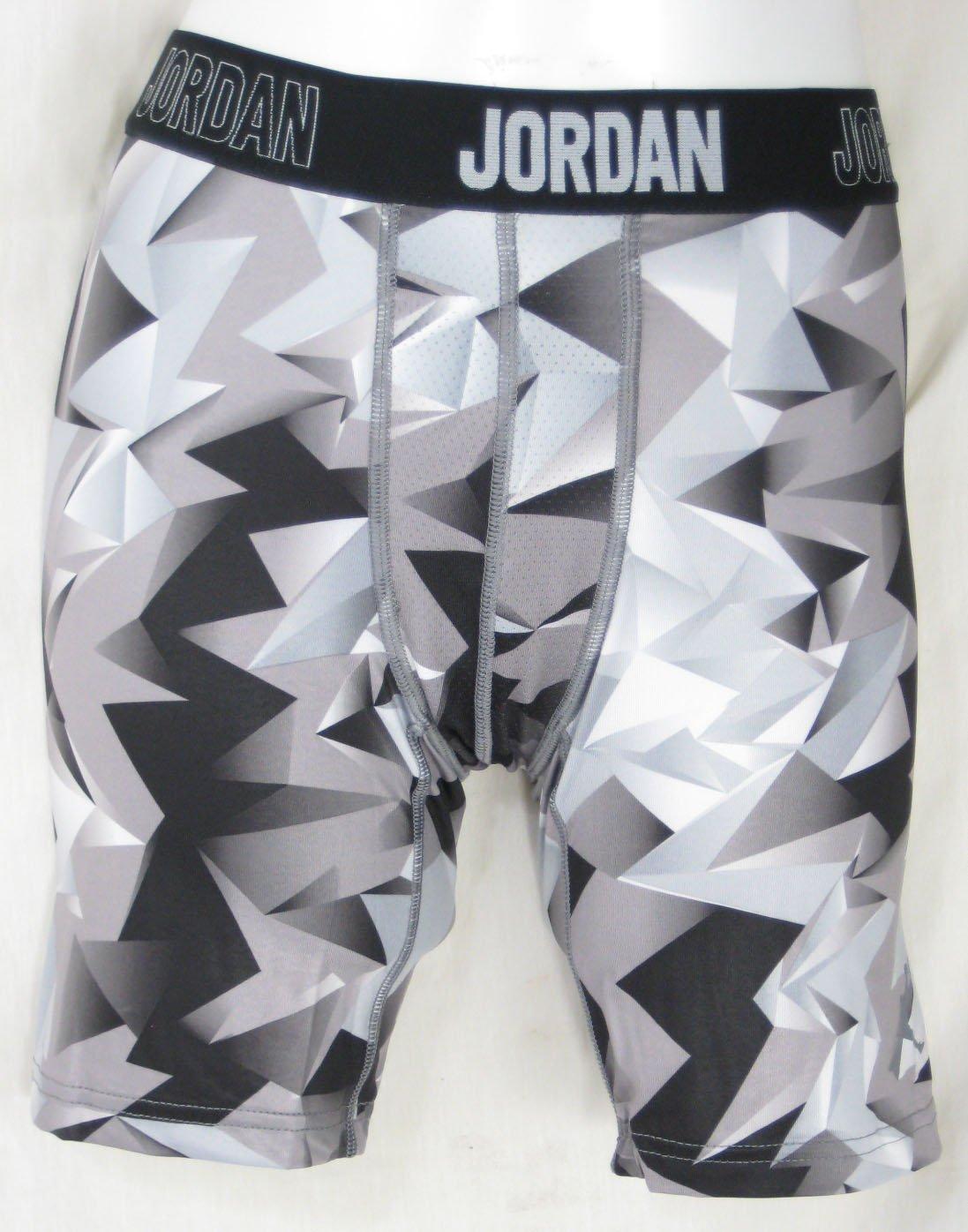 Jordan Jumpman Boys Black Gray Dri-Fit Training Compression Shorts Sz Med by NIKE