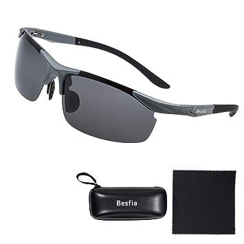 Gafas de Sol para Hombre, Besfia UV400 Gafas de Sol Polarizadas Deportivas Polarizadas Para Conducción Golf Ciclismo Pesca Correr: Amazon.es: Deportes y ...