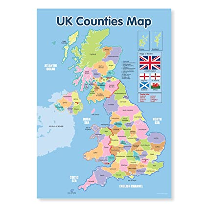 A3 Laminated UK Counties Map Educational Poster on map of france, map of us presidents, map of north umbria england, map of cumbria england, map of north east england, map uk united kingdom, map of lakes in england, map of britain, map of united kingdom with cities, england map counties, map of usa states, map of devon, great britain map with counties, map of somerset, map showing all counties, map of italy, map of europe, map of cornwall, map of scotland, map of wales,