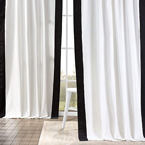 HPD Half Price Drapes PRCT-VC1716-108 Vertical Colorblock Panama Curtain 1 Panel