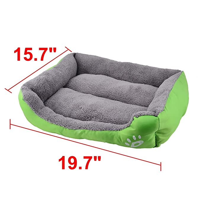 Amazon.com : Almofada DealMux Paw Impresso filhote de cachorro Pet Basket Gato doghole Mat Casa Kennel Dog Bed Verde : Pet Supplies