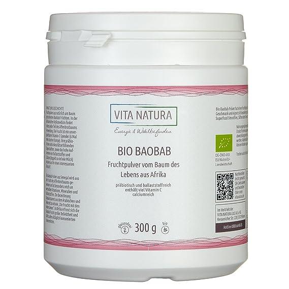 Ecológica-- polvo de fruta Baobab 300g