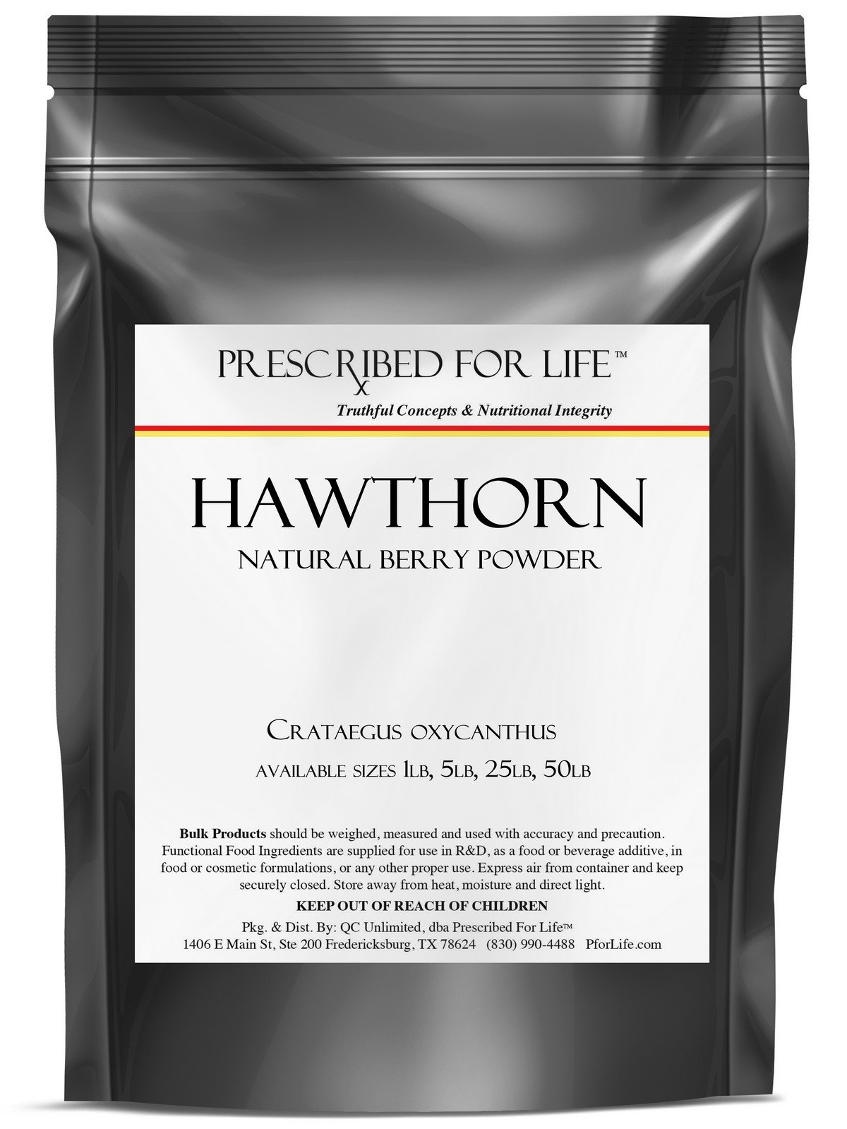 Hawthorn Berry - Natural Berry Fine Powder (Crataegus laevigata), 1 kg