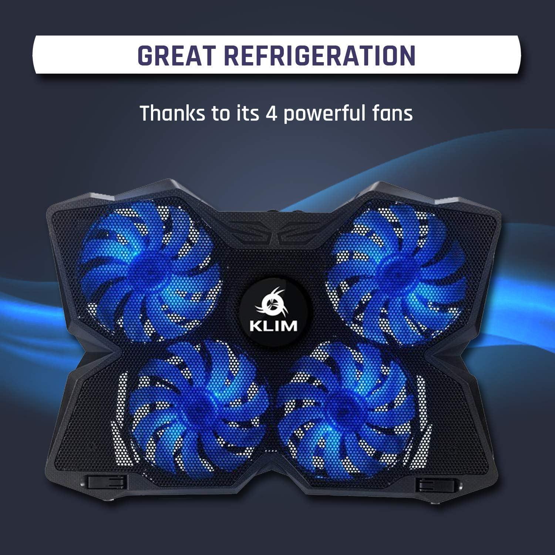 KLIM™ Wind + Base de refrigeración para portátil + La más Potente ...