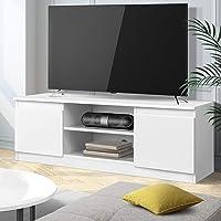 Artiss TV Unit 120cm Length Entertainment Unit Wooden TV Cabinet Console Table, White