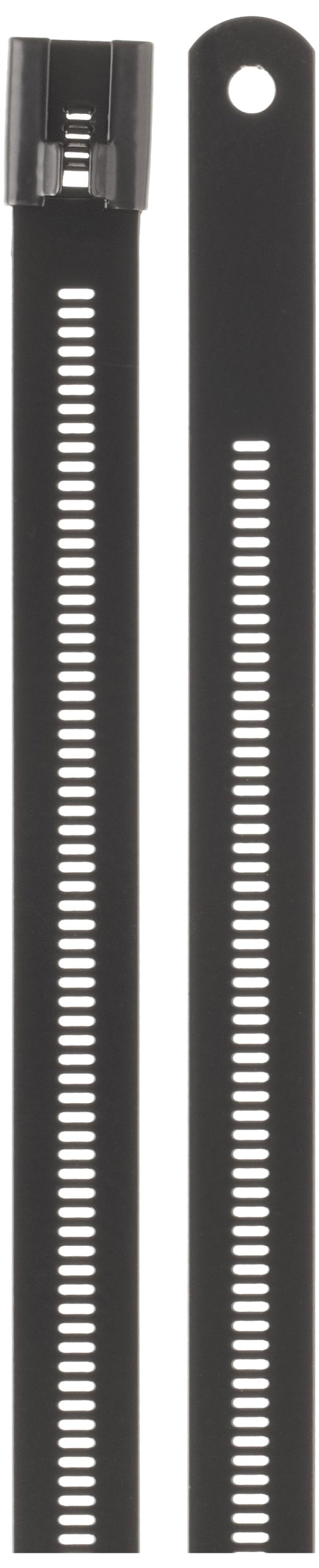 BAND-IT AE7159 316 Stainless Steel Multi Lok Cable Tie, 0.47'' Width, 24'' Length, 7.1'' Maximum Diameter, Bag of 100
