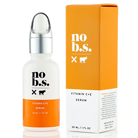 No B.S. Vitamin C Serum For Face - Potent & Clean Skin Care. No Hype. No Fads. Pure C + E with Hyaluronic Acid Serum