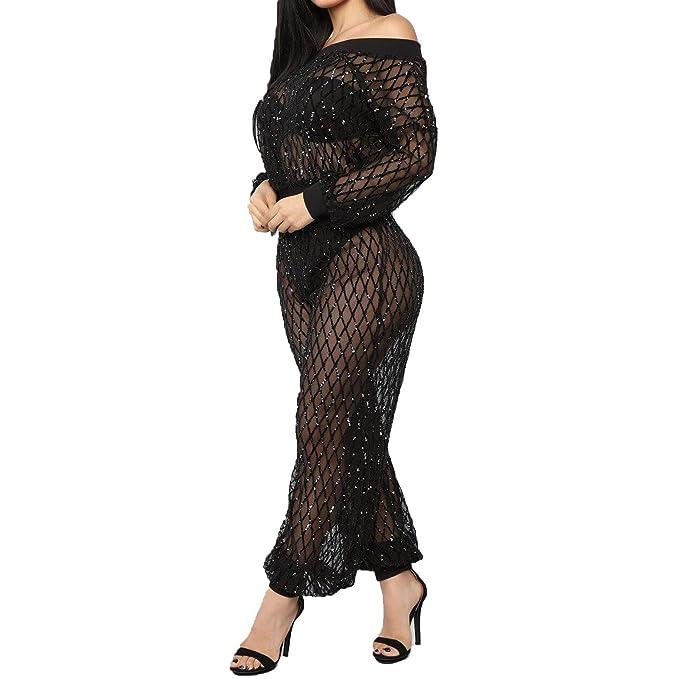 Amazon.com: IyMoo - Traje de mujer con lentejuelas, 2 piezas ...