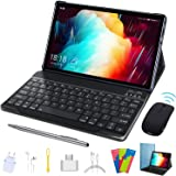 Tablet 10.1 inch, 2 in 1 Tablet with Keyboard Case Quad Core 1.3Ghz Processor, Android 9.0 GO Tablets, HD 1280 x 800 IPS Disp