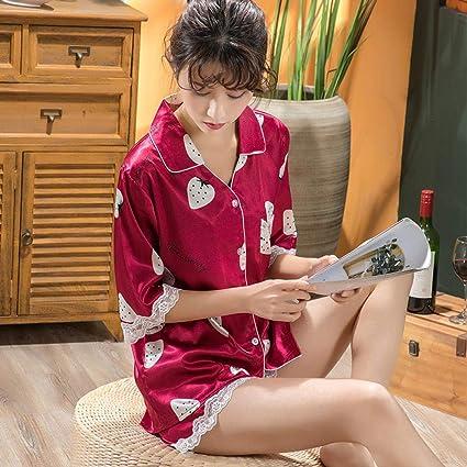 Wenhua Pijamas Conjunto, Casa de Seda Sexy y Transpirable USA ...