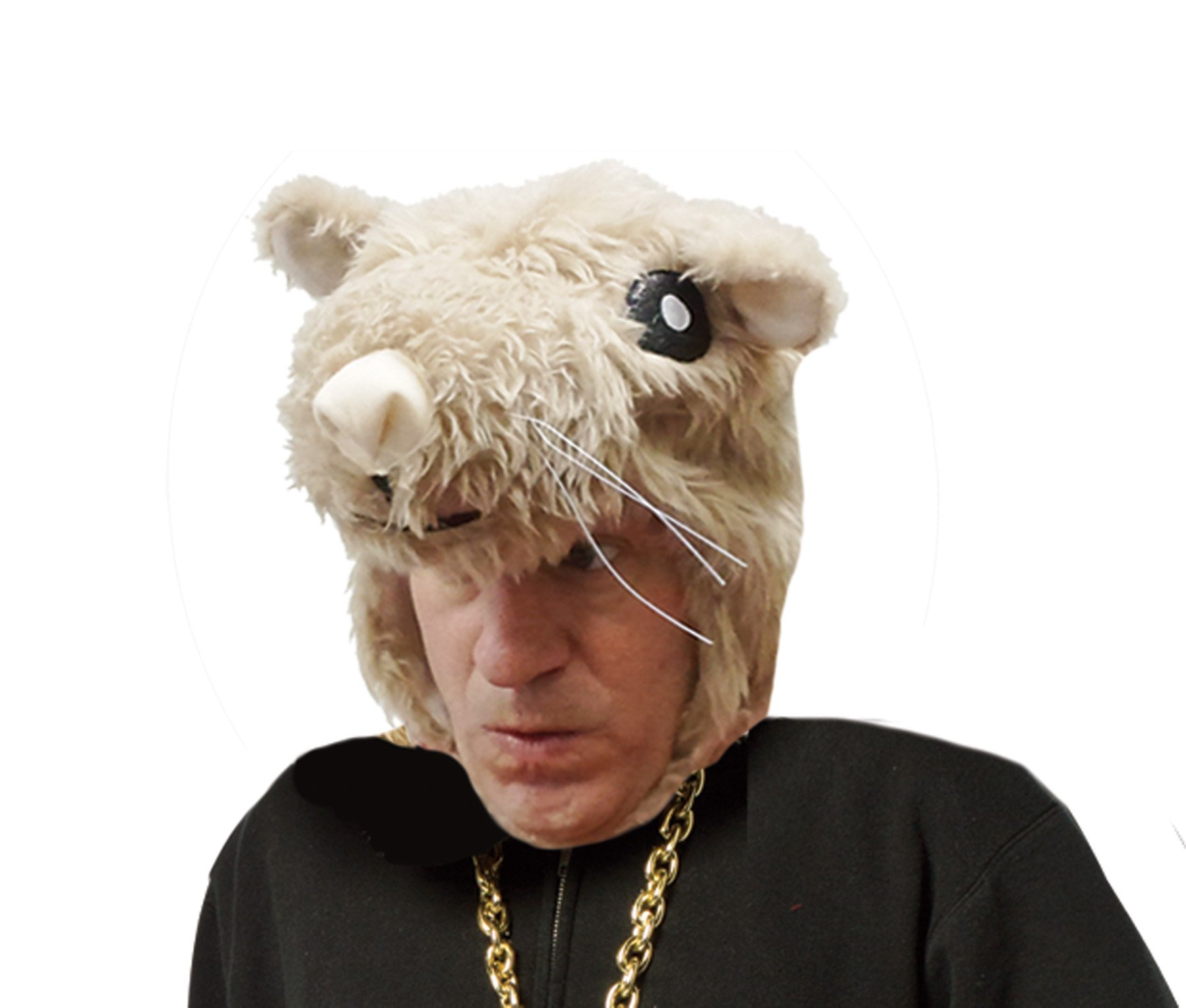 UHC Hamster Furry Mask Headpiece Hat Adult Halloween Costume Accessory