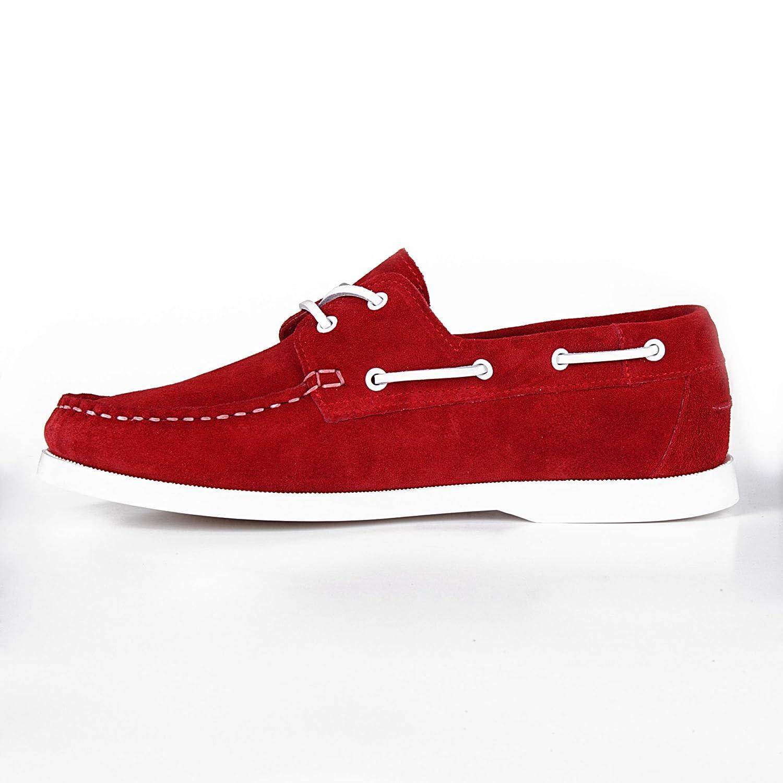 Orangemarine Bootsschuhe Damen SEAMARINE Color Leder Rot Rot 39 eiNTu