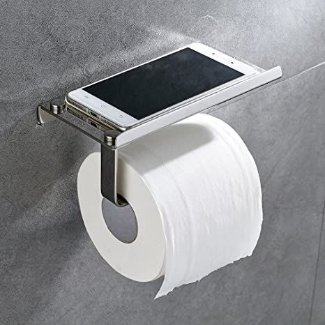 Auralum® 2 in 1 Dispensador de papel higiénico/portarrollos papel higienico de pared con