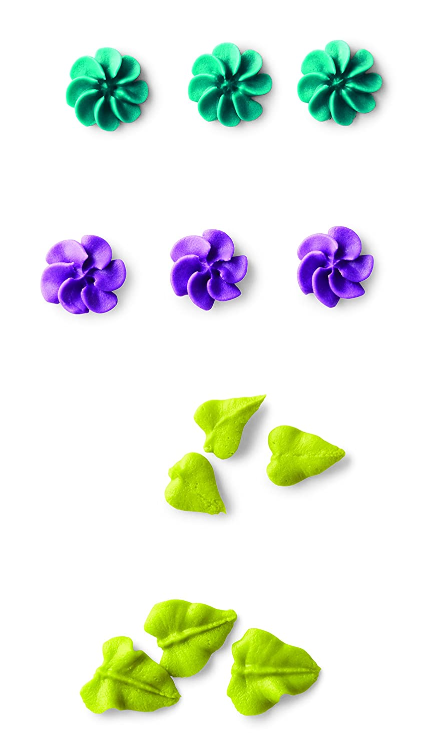 Wilton 418-9613 4 Piece Flower Icing Tip Set