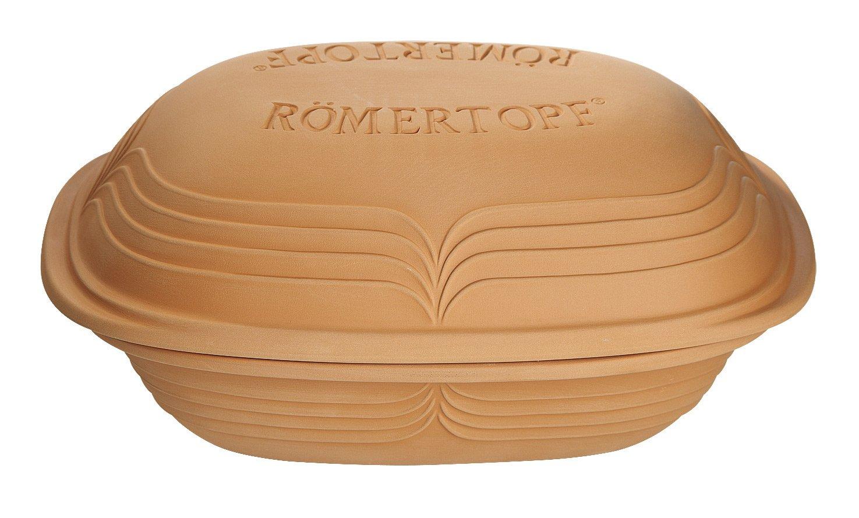 Römertopf Römertopf Modern Look braun Ton backofenfest/mikrowellengeeignet/spülmaschinengeeignet eckig RÖMERTOPF® Modern Look RÖMERTOPF