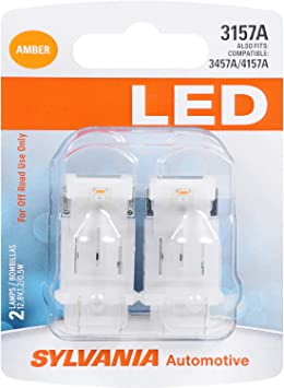 Pack of 2 SYLVANIA ZEVO 3157 Amber LED Bulb