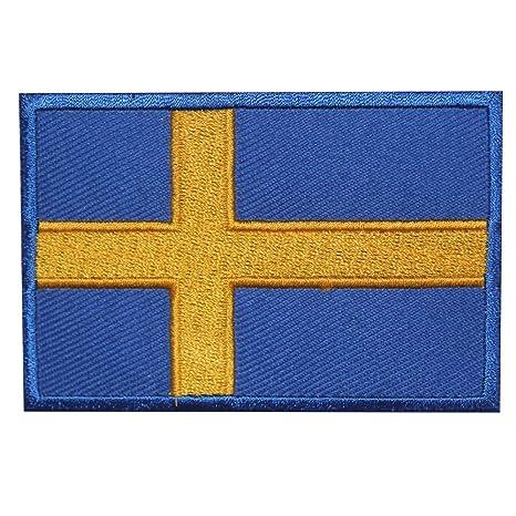 Real Empire - Parche para Planchar o Coser, diseño de la Bandera de Suecia