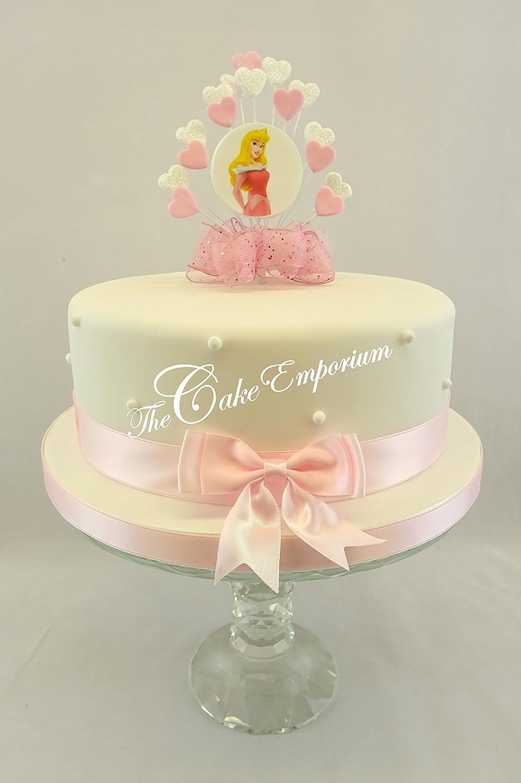 Brilliant Sleeping Beauty Disney Birthday Heart Burst Cake Topper Decoration Personalised Birthday Cards Rectzonderlifede