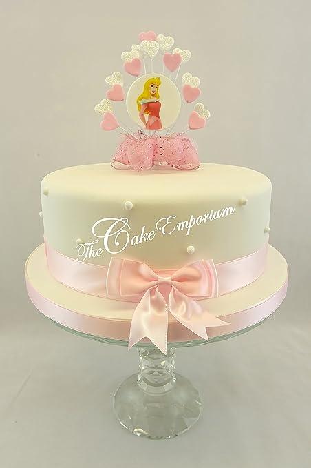 Astounding Sleeping Beauty Disney Birthday Heart Burst Cake Topper Decoration Personalised Birthday Cards Paralily Jamesorg