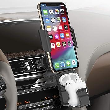 Cargador Inalámbrico Coche, Cargador Inalámbrico Coche Soporte Móvil Coche Carga Rápida Qi Compatible con iPhone 11/Pro/Pro Max/XS/XR/X/8/8 Plus y ...