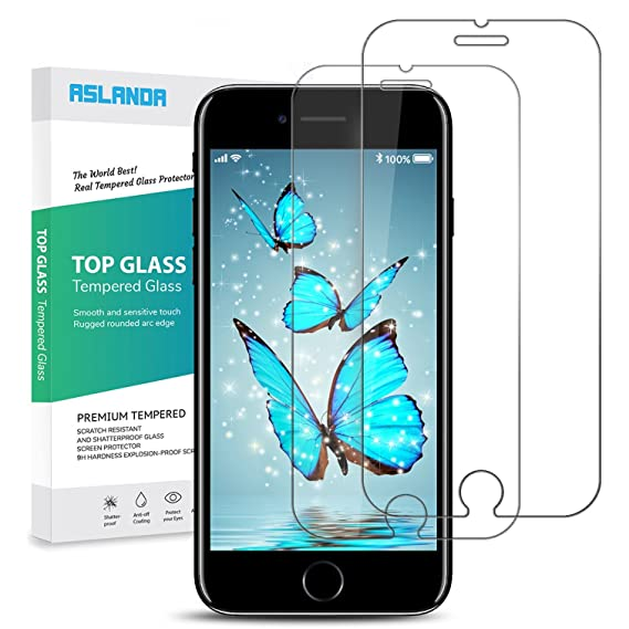 best website b12dc a3fb6 Aslanda iPhone 8/7 /6s Plus Screen Protector, iPhone 8 Plus Tempered Glass,  Screen Protector Bubble Free, 9H Hardness 3D Touch Compatible Best Glass ...