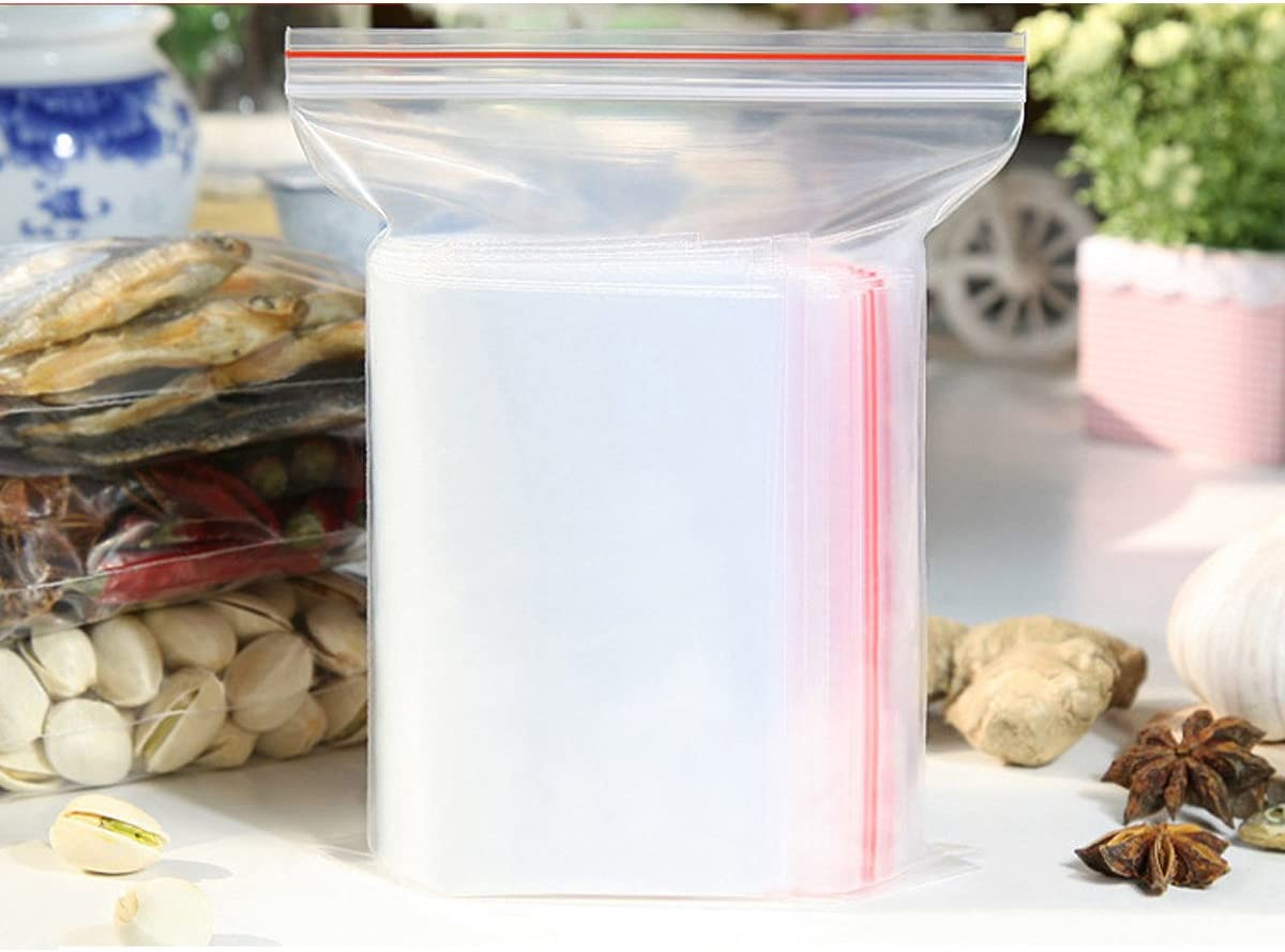 Inch Fermeture /à Glissi/ère R/éutilisable Robuste Convient Pour lemballage // Stockage De Produits Alimentaires // Bijoux // M/édicaments // Cosm/étiques // Aliments Surgel/és 4 x 6 4 Grip Seal Bags Ziplock 6 x 8 Inch Et