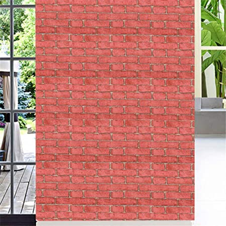YWLINK 3D Wall Paper Brick Stone Efecto RúStico Autoadhesivo Etiqueta De La Pared DecoracióN para El Hogar: Amazon.es: Hogar