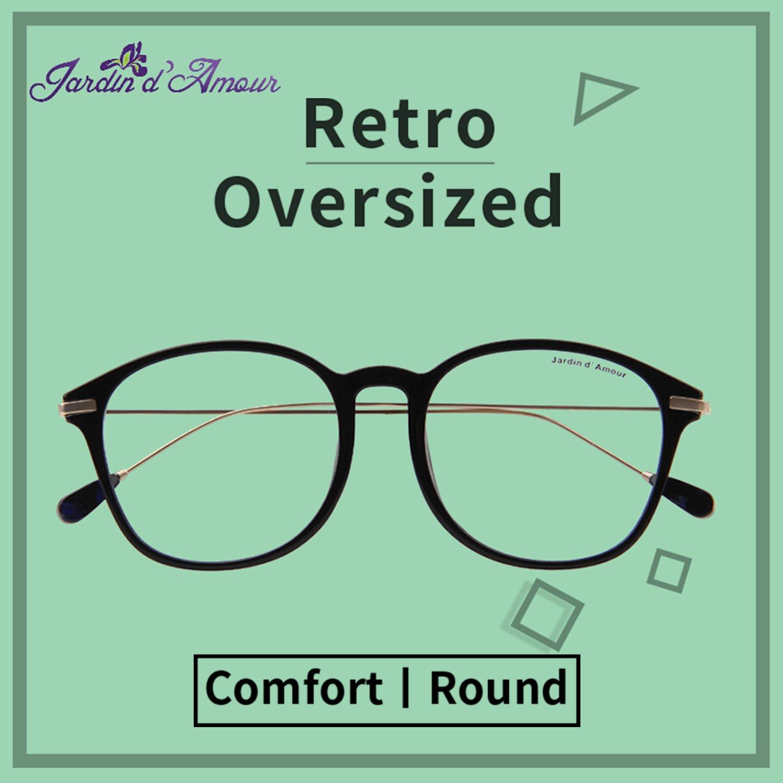 18ce2bb8294 Amazon.com  Jardin D amour Vintage Optical Glasses Eyewear Eyeglasses Frame  with Clear Lenses JA7204 BK  Clothing